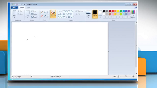 How to open PDF in Paint