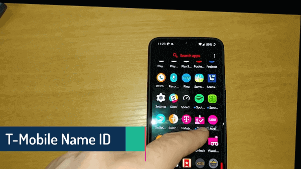 how to change caller id name t mobile